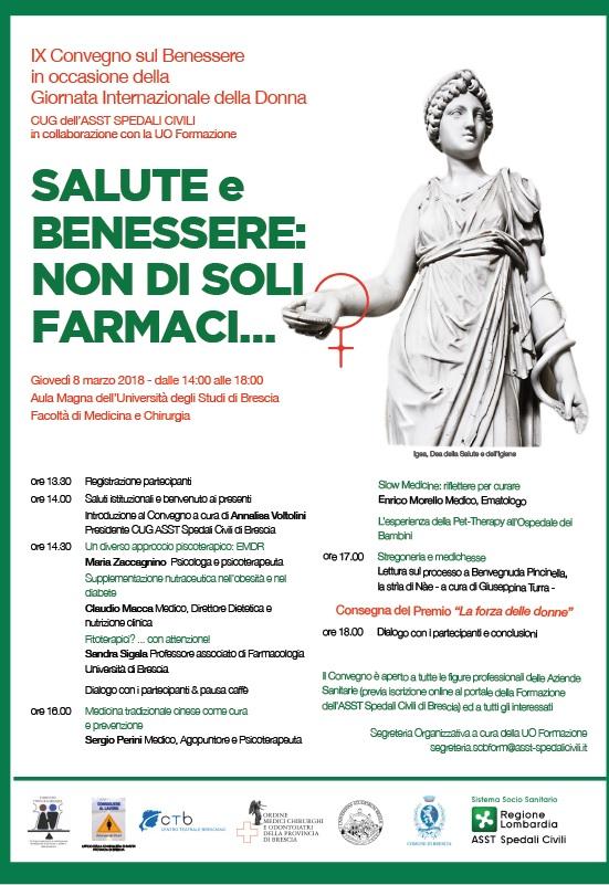 SALUTE e BENESSERE: NON DI SOLI FARMACI …..